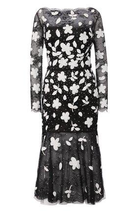 Платье-миди с декоративной отделкой | Фото №1