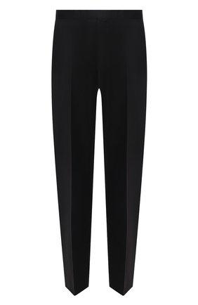 Мужской шерстяные брюки прямого кроя BOSS черного цвета, арт. 50375814 | Фото 1