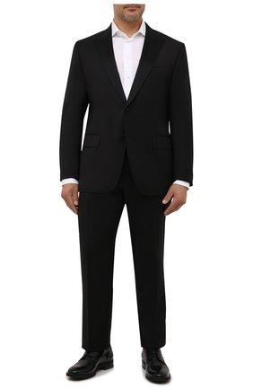 Мужской шерстяные брюки прямого кроя BOSS черного цвета, арт. 50375814 | Фото 2