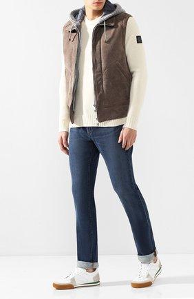 Мужские джинсы прямого кроя J BRAND синего цвета, арт. JB000148/G | Фото 2