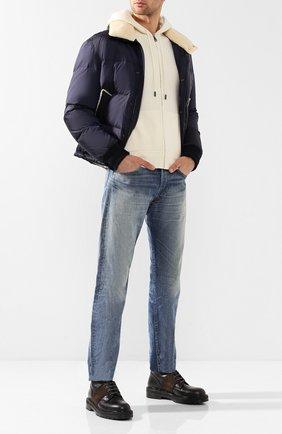 Мужские джинсы прямого кроя RRL голубого цвета, арт. 782658886 | Фото 2