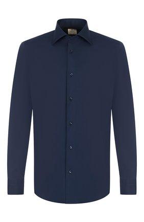 Мужская хлопковая сорочка с воротником кент LUIGI BORRELLI темно-синего цвета, арт. EV08/TS6971/PT1 | Фото 1