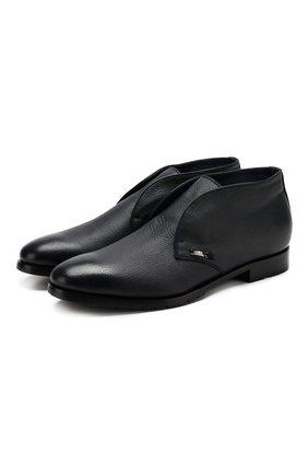 Кожаные ботинки без шнуровки | Фото №1
