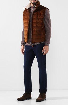 Мужские джинсы прямого кроя  ZILLI темно-синего цвета, арт. MCQ-00210-DESU1/R001 | Фото 2
