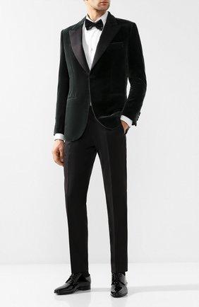 Мужской однобортный пиджак из смеси хлопка и шелка BRIONI зеленого цвета, арт. RE4X0M/0705S | Фото 2