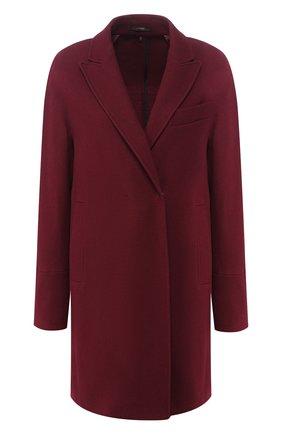 Однотонное шерстяное пальто   Фото №1