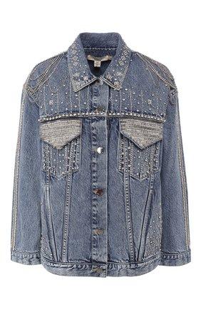 Джинсовая куртка с декоративной отделкой | Фото №1
