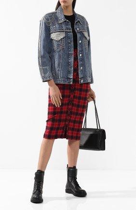 Джинсовая куртка с декоративной отделкой | Фото №2