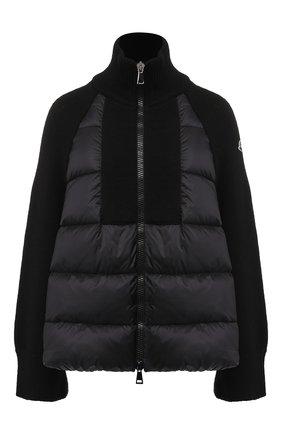 Шерстяная куртка на молнии | Фото №1