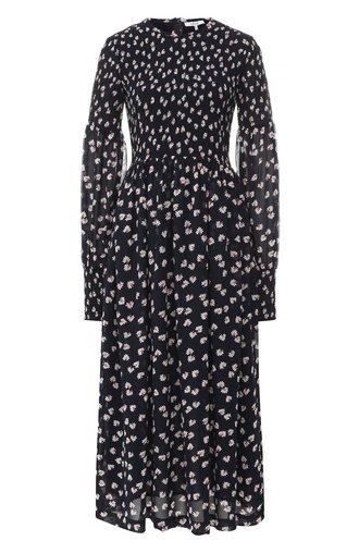 Платье-миди с принтом