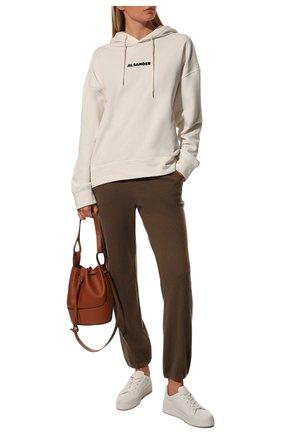 Женские кашемировые джоггеры LORO PIANA коричневого цвета, арт. FAE6453   Фото 2