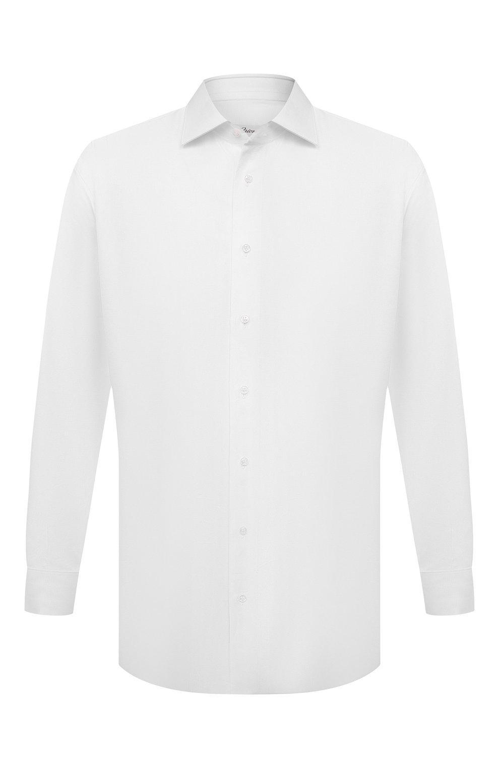 Мужская хлопковая сорочка с воротником кент BRIONI белого цвета, арт. RCL421/PZ023   Фото 1