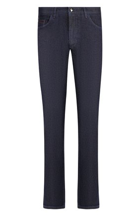 Мужские джинсы прямого кроя ZILLI темно-синего цвета, арт. MCQ-00050-JALI1/S001/AMIS | Фото 1