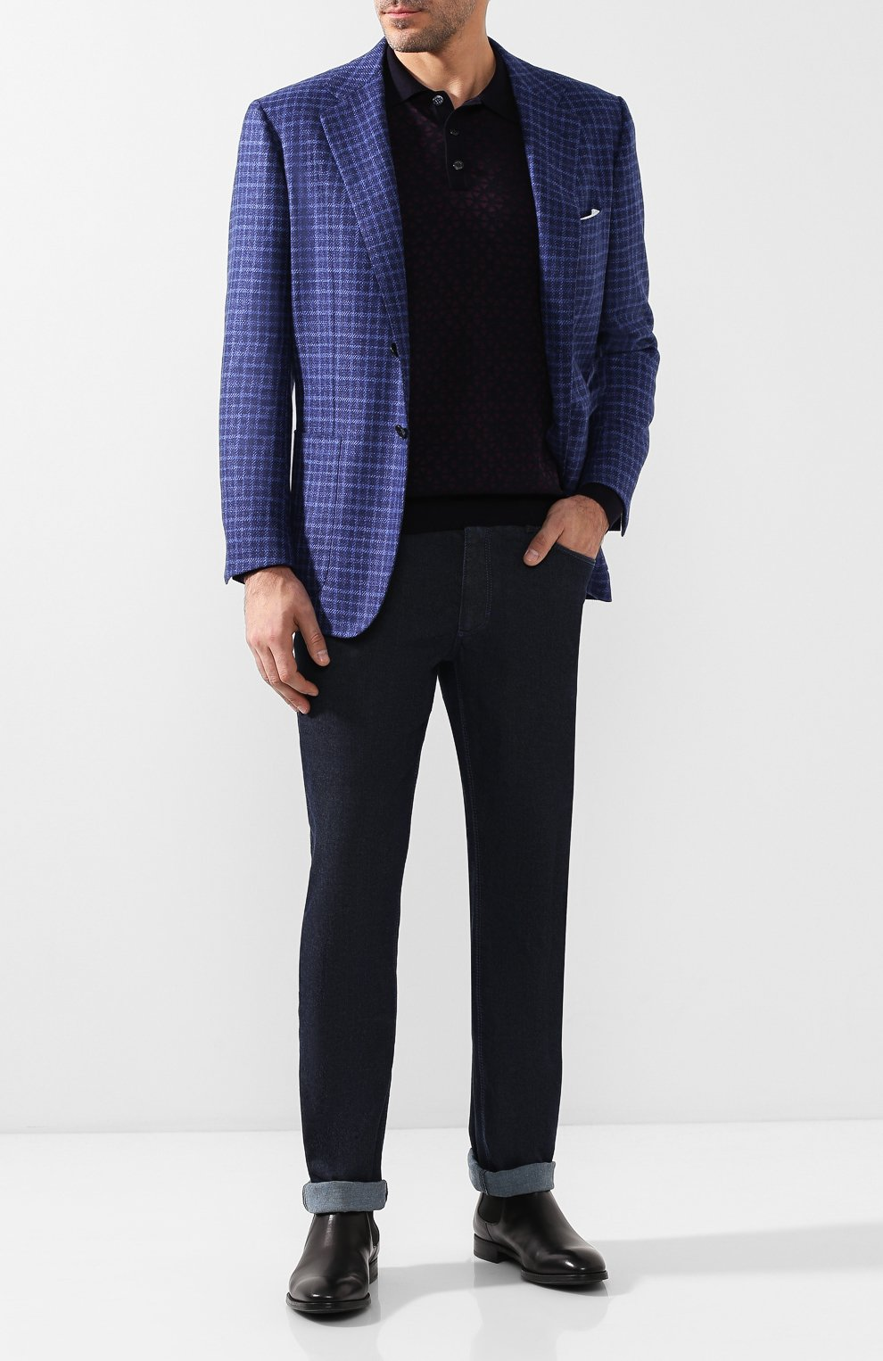 Мужские джинсы прямого кроя ZILLI темно-синего цвета, арт. MCQ-00050-JALI1/S001/AMIS | Фото 2