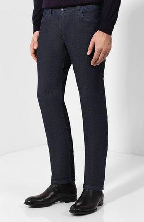 Мужские джинсы прямого кроя ZILLI темно-синего цвета, арт. MCQ-00050-JALI1/S001/AMIS | Фото 3