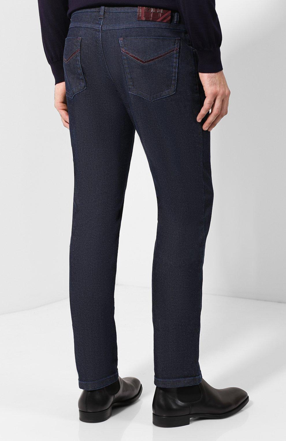 Мужские джинсы прямого кроя ZILLI темно-синего цвета, арт. MCQ-00050-JALI1/S001/AMIS | Фото 4
