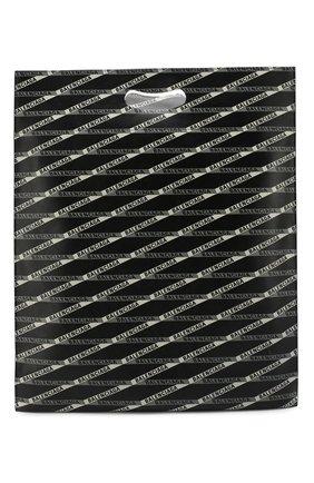 Мужская кожаная сумка-шопер с принтом BALENCIAGA черного цвета, арт. 541906/0XT2N | Фото 1