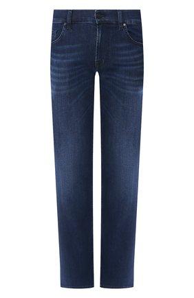 Мужские джинсы прямого кроя 7 FOR ALL MANKIND синего цвета, арт. JSMNR750PC | Фото 1