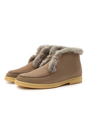 Замшевые ботинки Walk And Walk с внутренней меховой отделкой | Фото №1