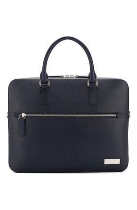 Кожаный портфель Berna с плечевым ремнем | Фото №1