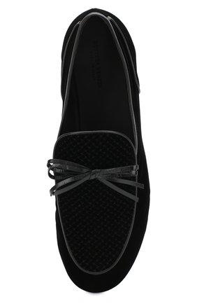 Мужские текстильные лоферы с отделкой BOTTEGA VENETA черного цвета, арт. 532931/VBLG1 | Фото 5