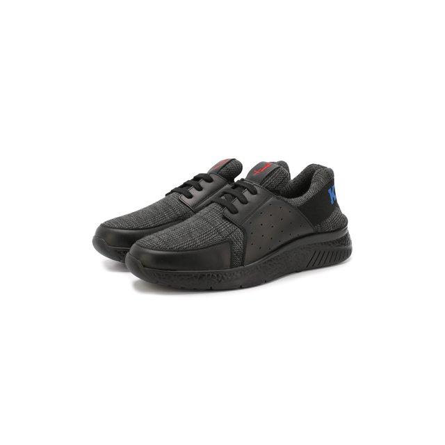 Текстильные кроссовки на шнуровке KNT — Текстильные кроссовки на шнуровке