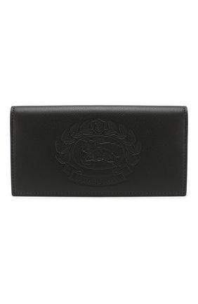 Мужской кожаное портмоне BURBERRY черного цвета, арт. 4077835 | Фото 1