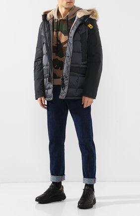 Пуховая куртка на молнии с капюшоном   Фото №2