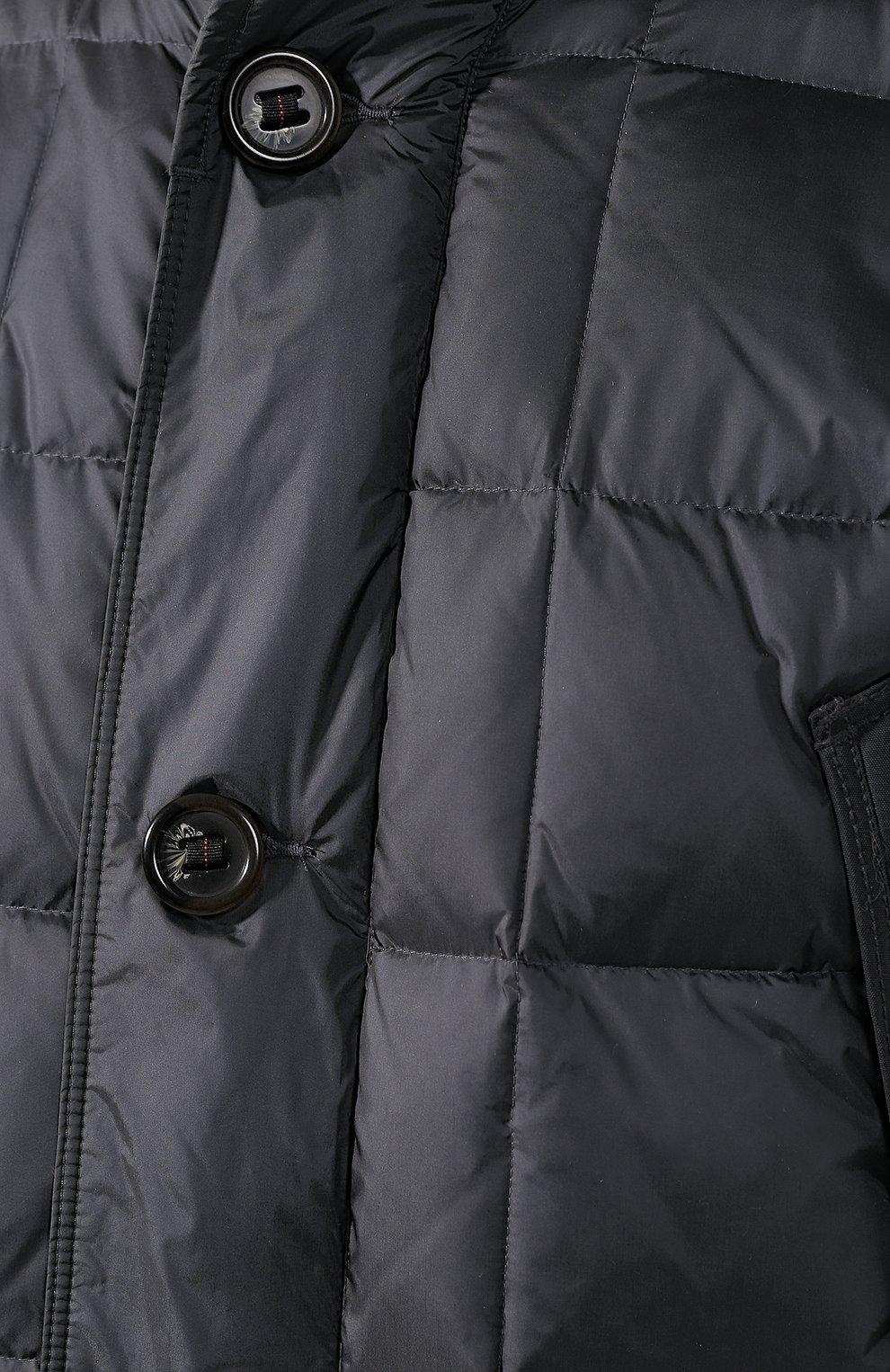 Пуховая куртка на молнии с капюшоном   Фото №5