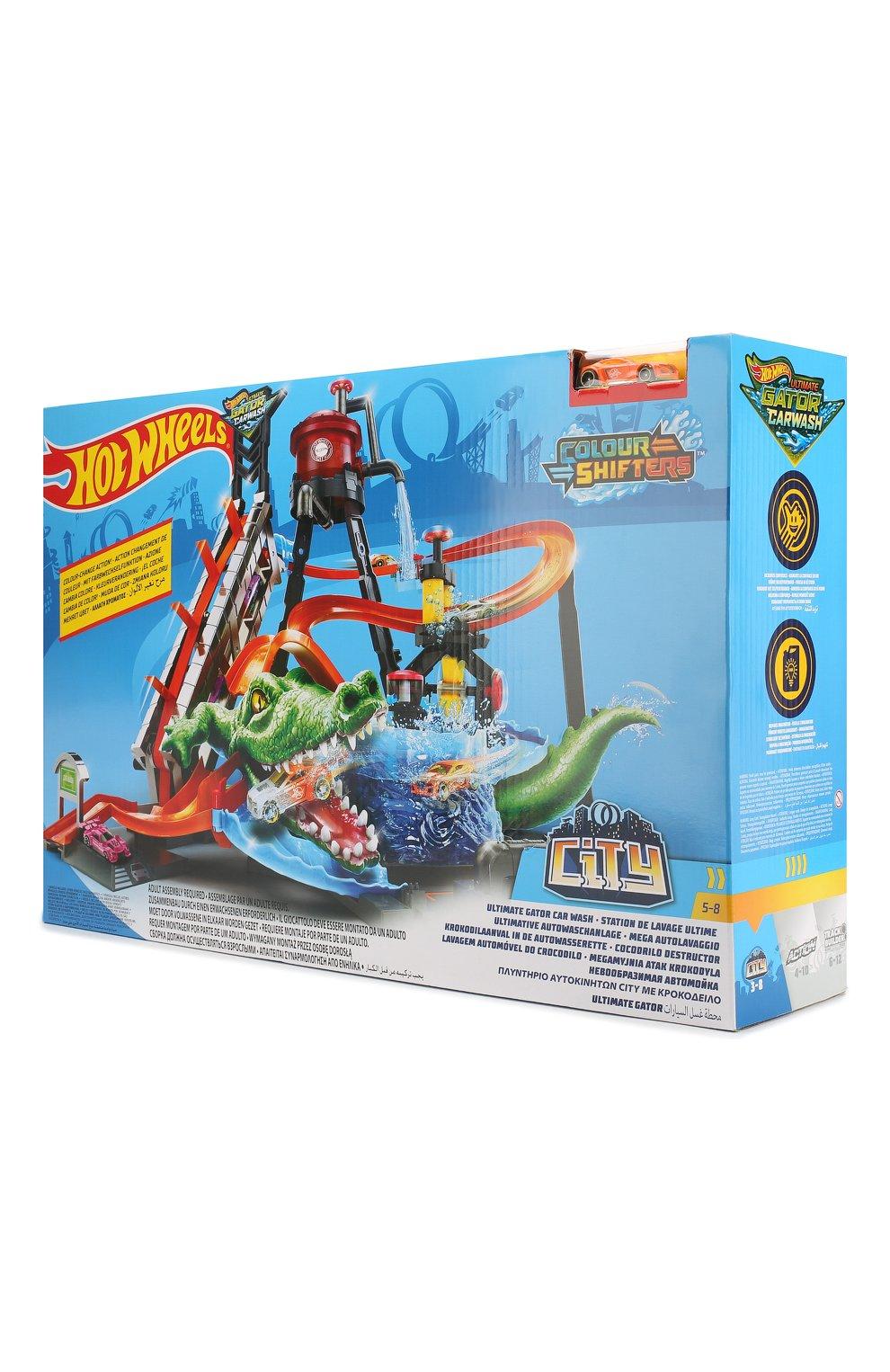 Nabor Hot Wheels Gator Carwash Mattel Raznocvetnogo Cveta Kupit