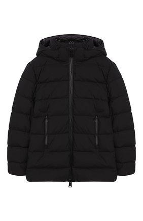 Пуховая куртка на молнии с капюшоном   Фото №1