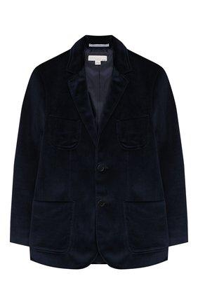 Бархатный пиджак на двух пуговицах | Фото №1
