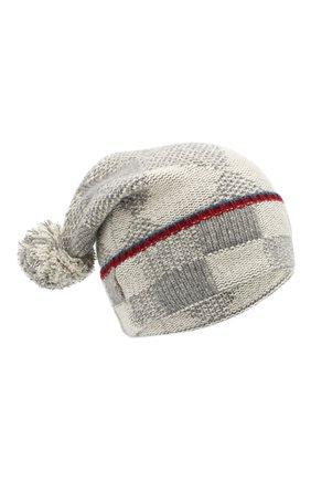 Кашемировая шапка с помпонами | Фото №1