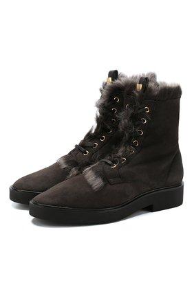 Высокие замшевые ботинки Jissika с внутренней отделкой из овчины | Фото №1