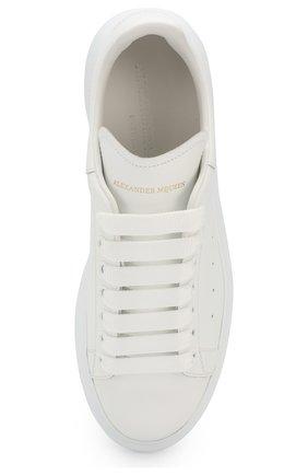 Кожаные кеды Alexander McQueen белые   Фото №5
