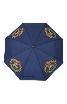 Женский складкой зонт с принтом BURBERRY темно-синего цвета, арт. 4078237 | Фото 1