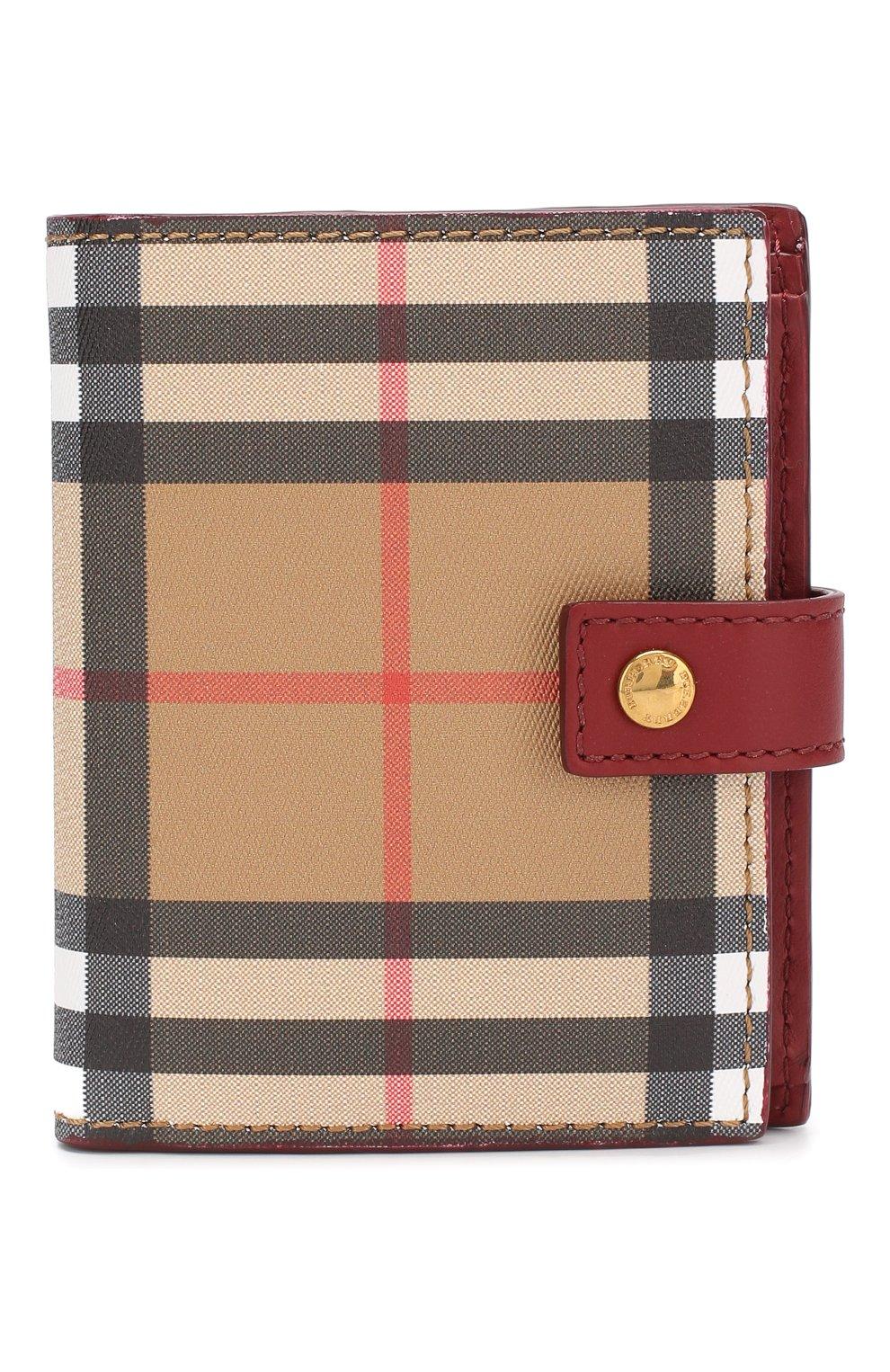 Кожаный кошелек в клетку Vintage Check | Фото №1