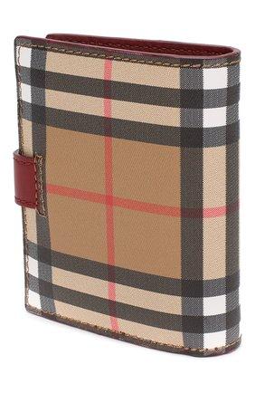 Кожаный кошелек в клетку Vintage Check Burberry красного цвета | Фото №2