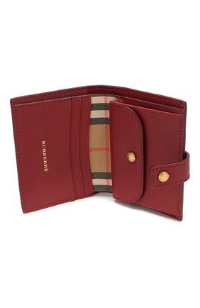 Кожаный кошелек в клетку Vintage Check Burberry красного цвета | Фото №3