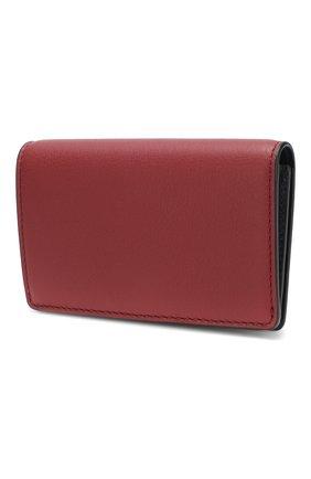 Женский кожаный футляр для кредитных карт с отделением для монет BURBERRY красного цвета, арт. 4080086 | Фото 2