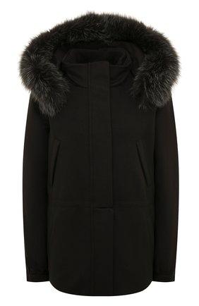 Женская кашемировая куртка  LORO PIANA темно-серого цвета, арт. FAF8086   Фото 1