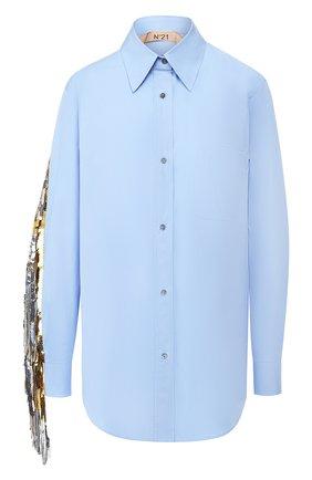 Хлопковая блуза с пайетками | Фото №1