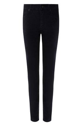 Вельветовые брюки-скинни | Фото №1