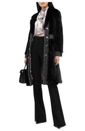 Женская шуба из меха норки с поясом DOLCE & GABBANA черного цвета, арт. I0A30W/FUPLH | Фото 2
