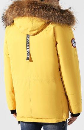 Мужская пуховая парка chill с меховой отделкой капюшона ARCTIC EXPLORER желтого цвета, арт. CHILL_YELLOW | Фото 4
