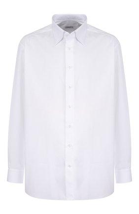Мужская хлопковая сорочка с воротником кент ZILLI белого цвета, арт. MFQ-00101-04211/RE01 | Фото 1
