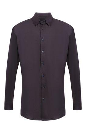 Мужская рубашка из смеси шелка и кашемира с хлопком  ZILLI коричневого цвета, арт. MFQ-10402-64019/RS01   Фото 1