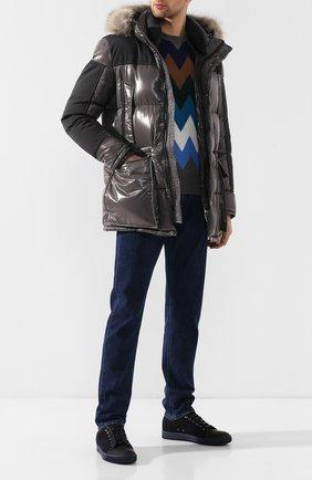 Мужская пуховик frey MONCLER темно-серого цвета, арт. D2-091-41823-25-68950 | Фото 2