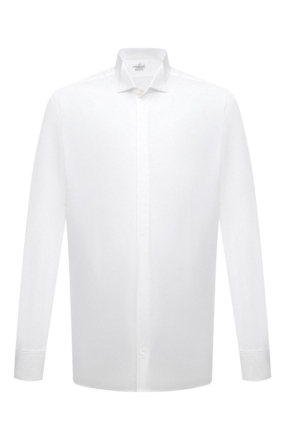 Мужская хлопковая сорочка VAN LAACK белого цвета, арт. GALA-DTF/130648 | Фото 1 (Рукава: Длинные; Длина (для топов): Стандартные; Материал внешний: Хлопок; Воротник: Бабочка; Статус проверки: Проверено)