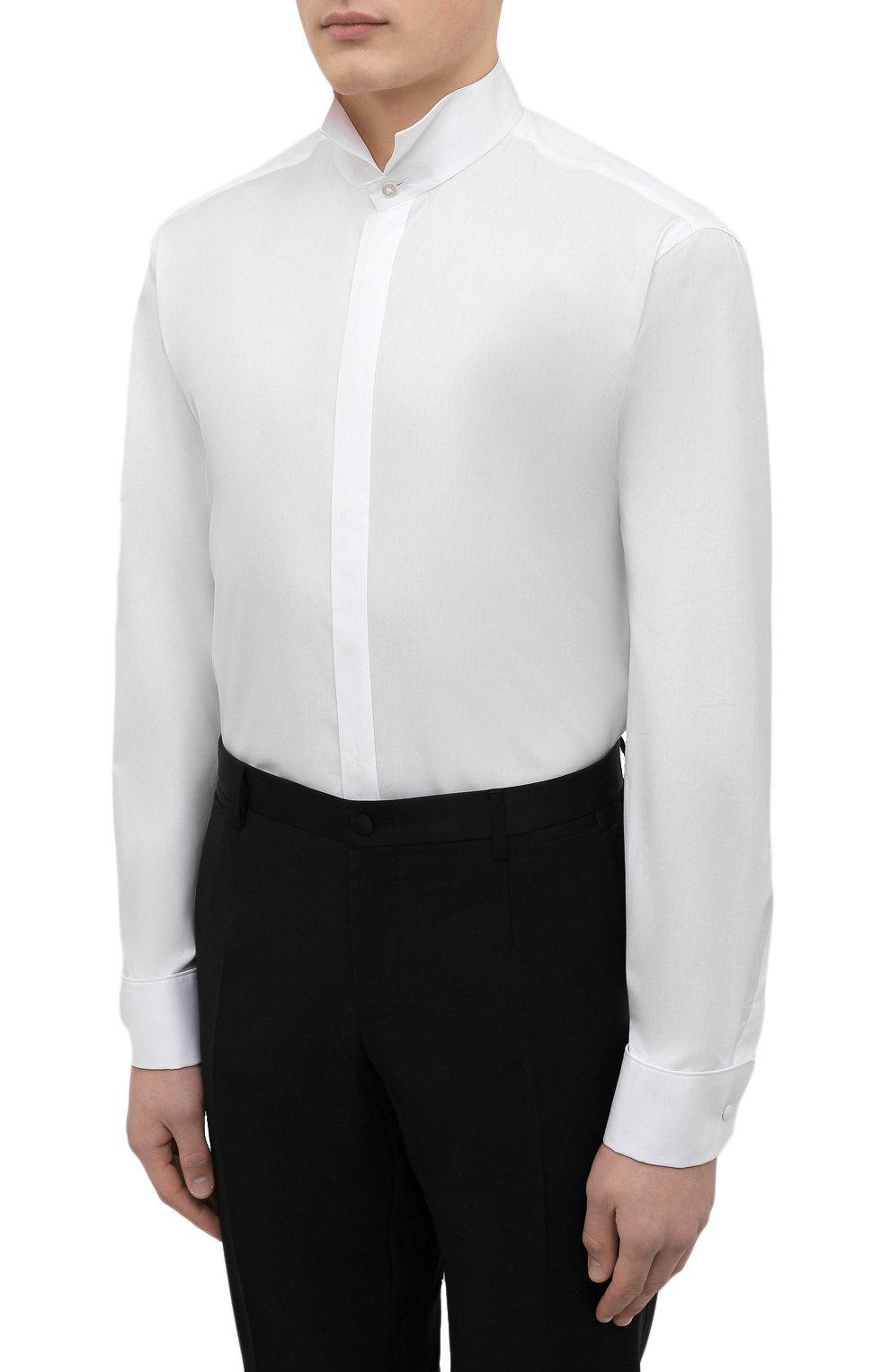 Мужская хлопковая сорочка VAN LAACK белого цвета, арт. GALA-DTF/130648 | Фото 3 (Рукава: Длинные; Длина (для топов): Стандартные; Материал внешний: Хлопок; Воротник: Бабочка; Статус проверки: Проверено)
